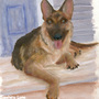 German Shepherd Painting by SapphireLuna