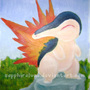 Cyndaquil Painting by SapphireLuna