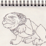 foo dog line art by MrCreeep