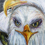 Eagles in coloured pencil by thies