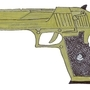 Desert Eagle Gold by PsychoCrow
