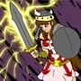 female warrior by XgoldeneagleX