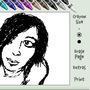 Girl drawn in Yahoo IM Doodle by KoRpZ