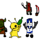 Castle Crashers and Alien by pizza4321123