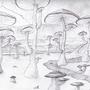 Mushroom Landscape by Satorion