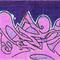 Purple Wildstyle Sticker