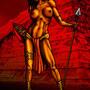 Aztec Warrior Woman by chrisduh69