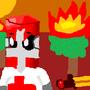 Red Castle Crasher Laptop Draw by singingsnake