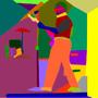 abstract gutair man by x-xxJasonxx-x