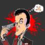 Quentin Tarantino by Emanhattan