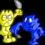 Sparkith and Spazatron by gamagamaman