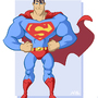 Super-Toon Superman by kevinbolk