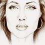 Angelina Jolie by Bryony