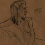 Female in Nude - LD Study by OmnislashMaster