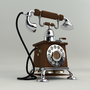 Vintage Telephone 3D Model by MarcyVF