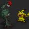 Zombie Pikachu v.s Geodude