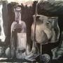 Still Life BW Acrylic by Iznvm