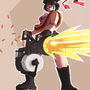 TF2: Heavy Weapons Girl by rtil