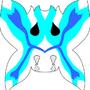 Vizard mask, butterfly blue by ponek