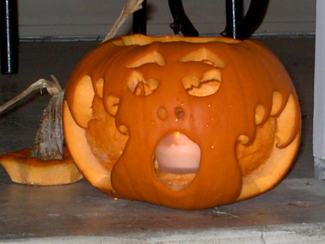 Screaming pumpkin