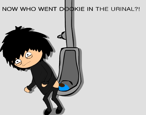 Who went dookie in the urinal
