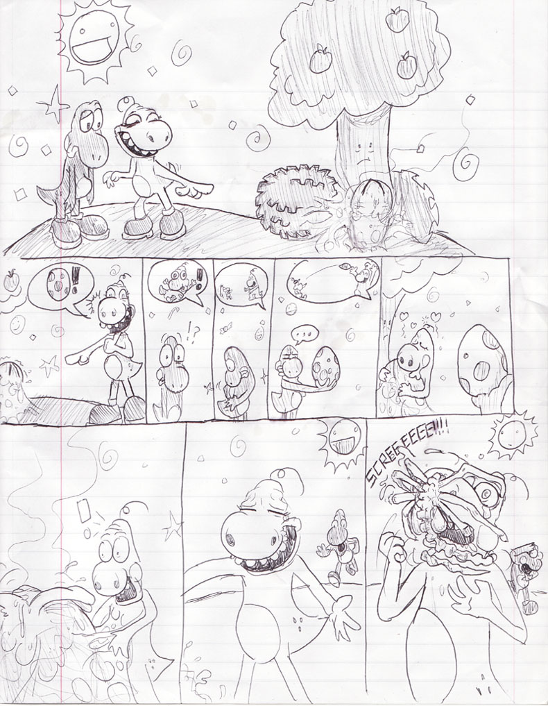 Alien Vs. Yoshi - First Page