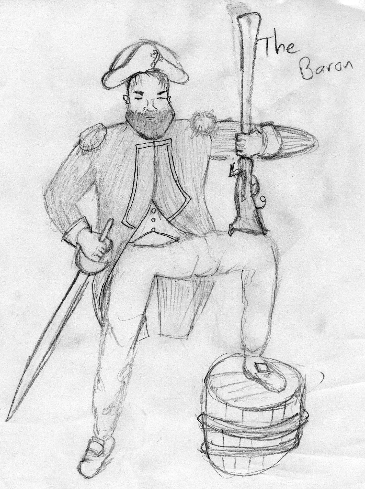 -Three Pirates- The Baron