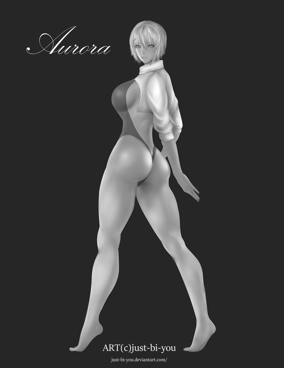 Aurora Painting Full Body (Grey Scale)