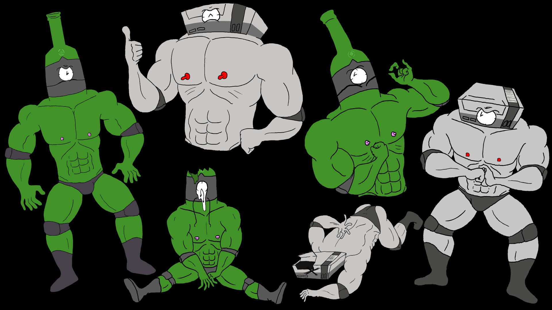 Wrestler AbsintheClock & NintendoClock
