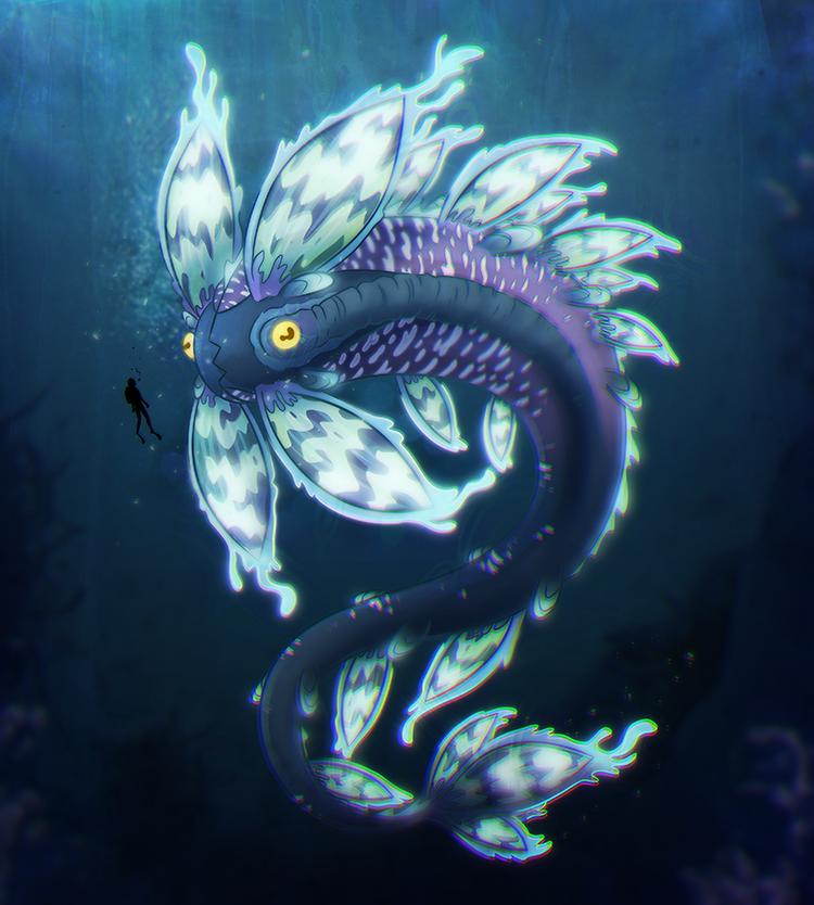 Subnautica Fakefish - Enthraller Leviathan