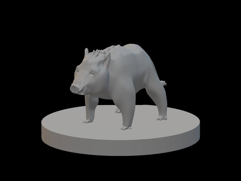 Tabletop Boar Miniature