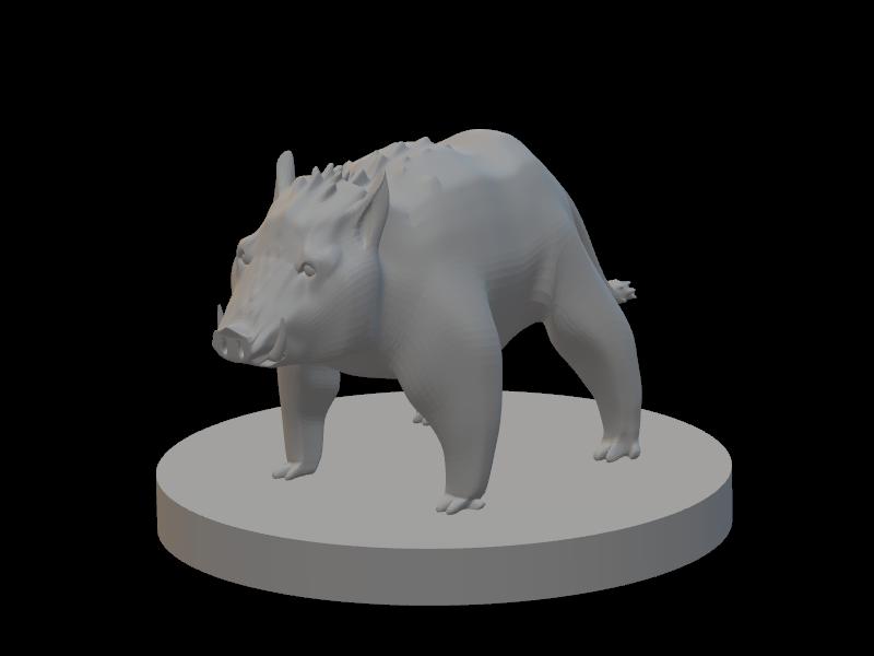 Tabletop Grand Boar Miniature