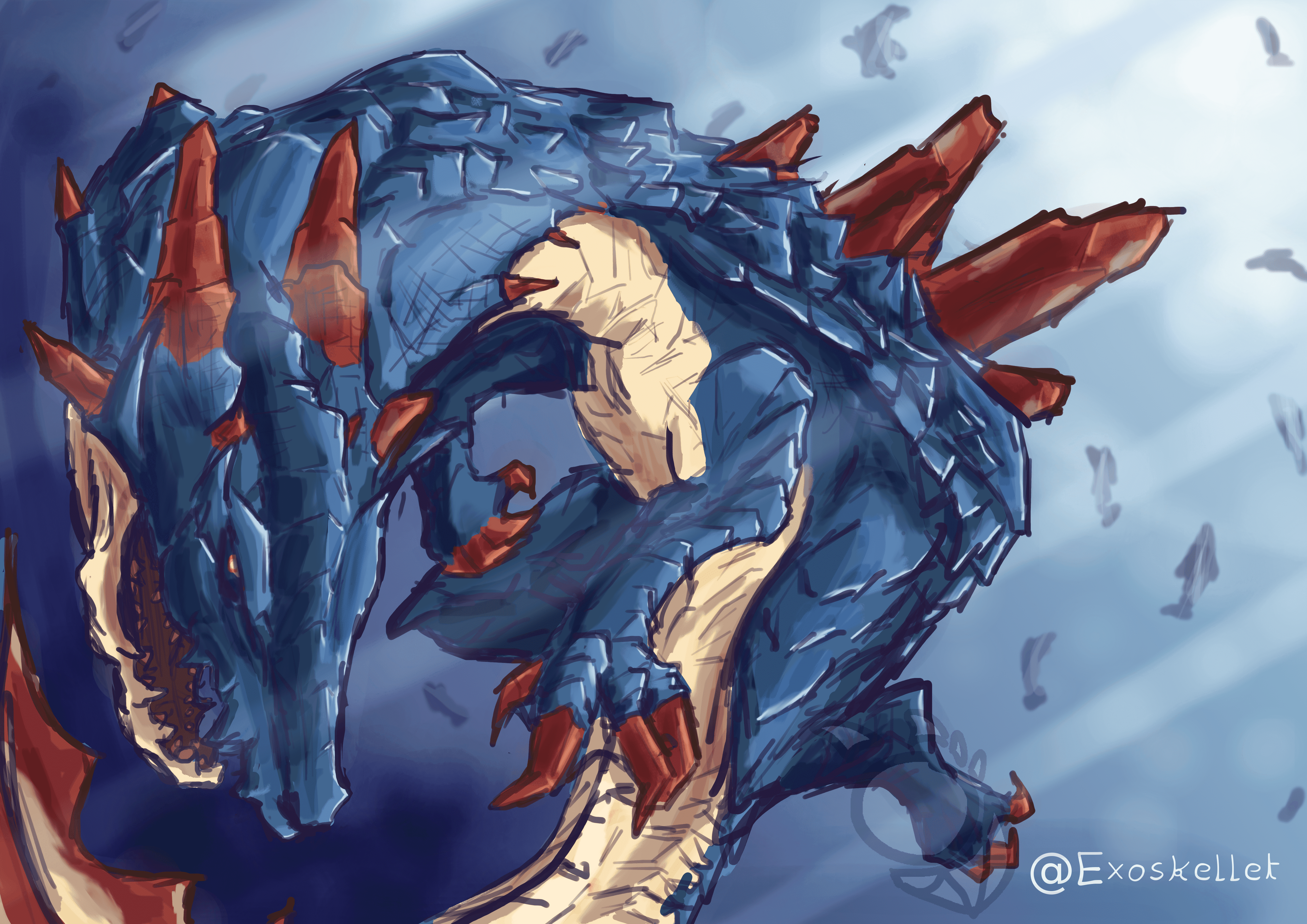 The Lagiacrus By Exoskellet On Newgrounds Commission, electrified awesome croc from monster hunter. newgrounds com