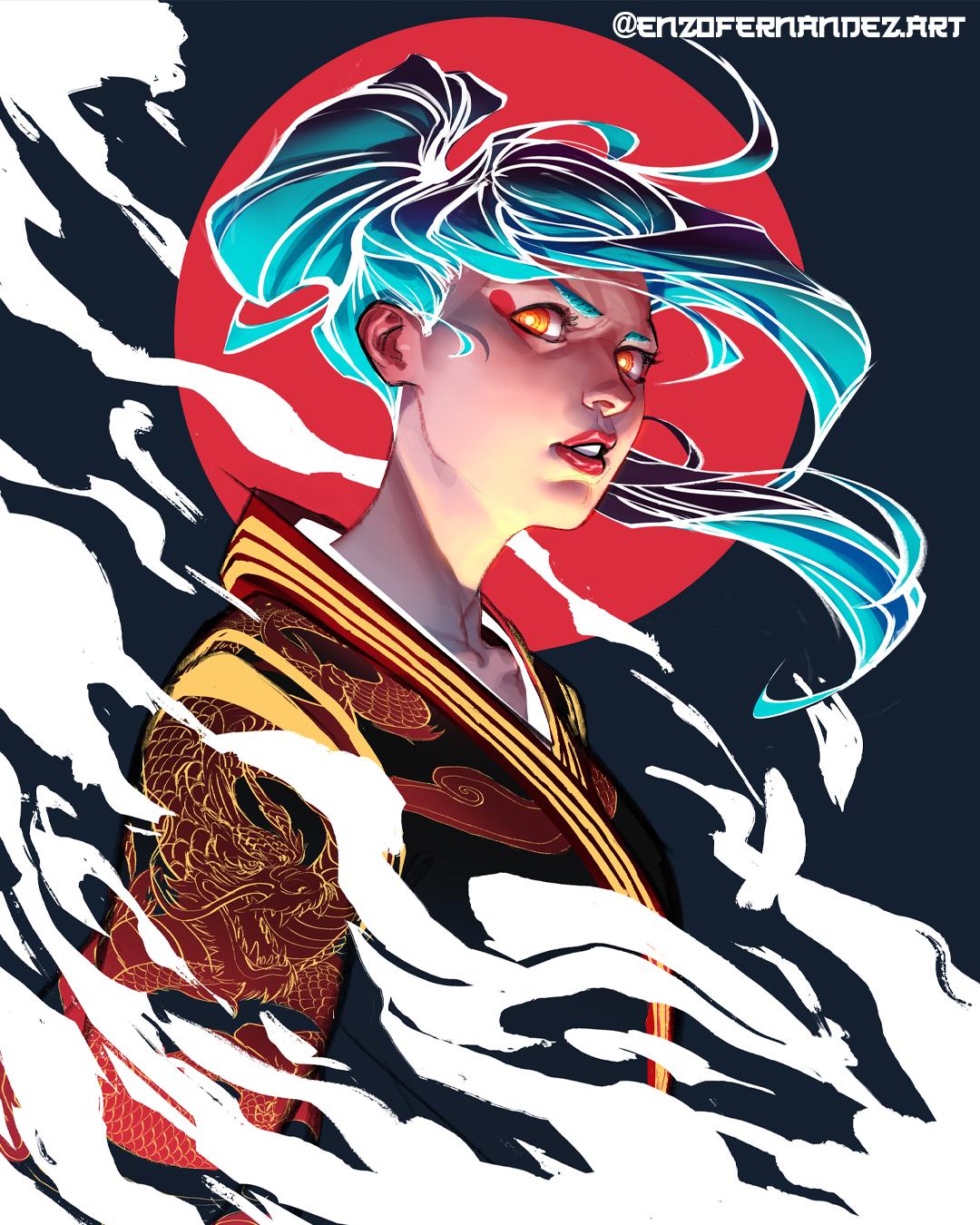 The girl with the dragon kimono (3/3)