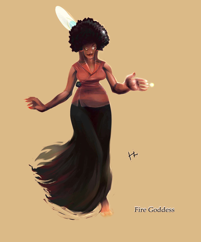 Fire Goddes art revamped