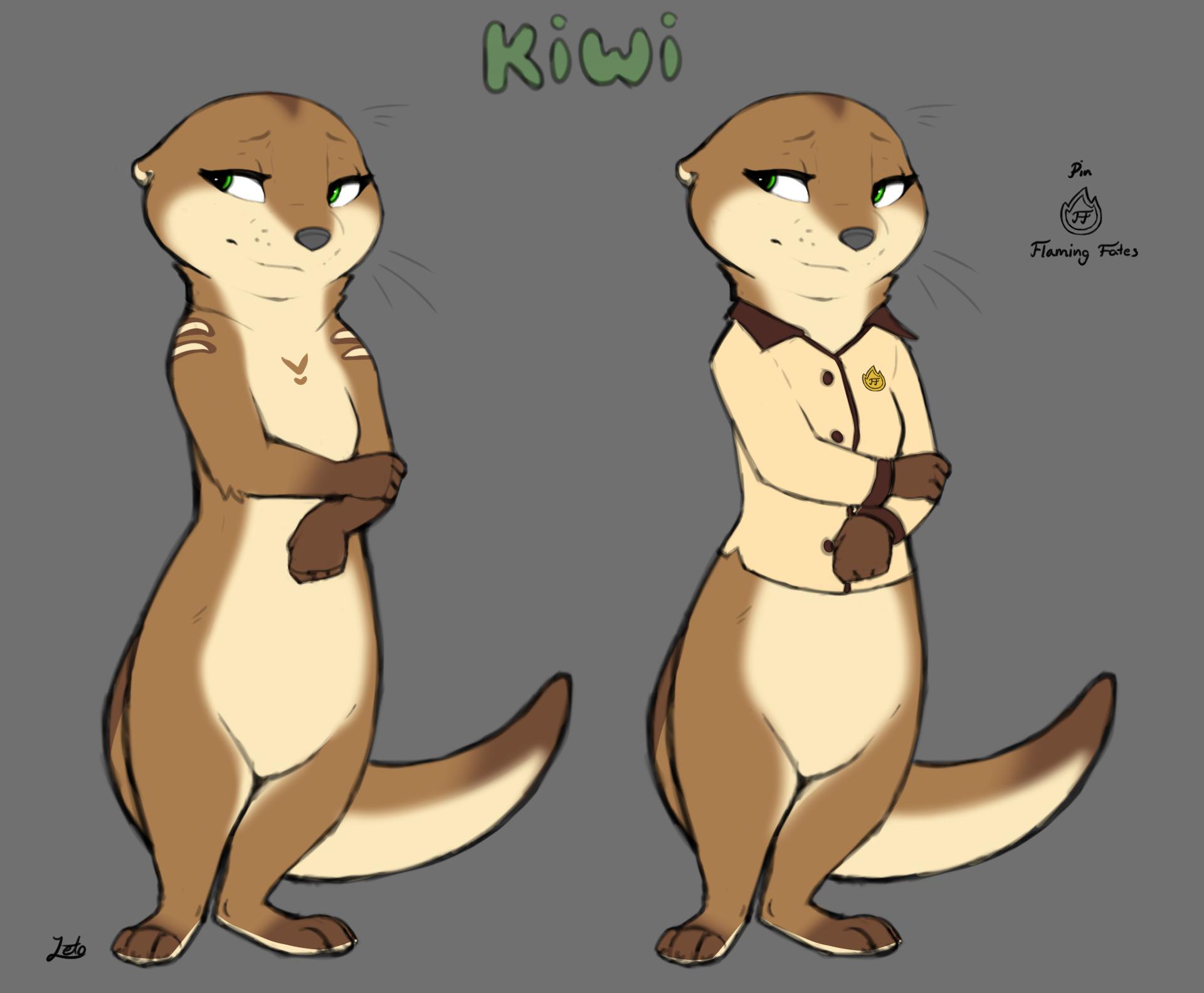 Kiwi the Room Service Otter