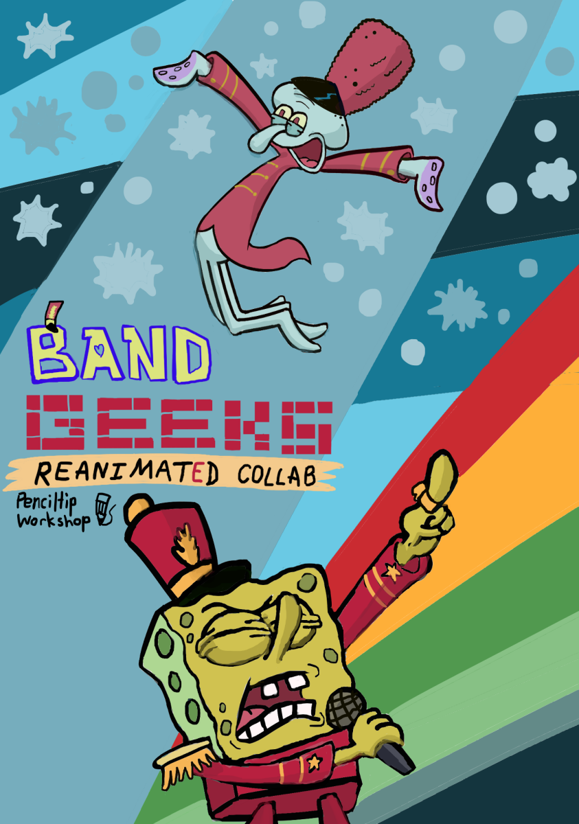 Spongebob Band Geeks Reanimated Collab Poster By