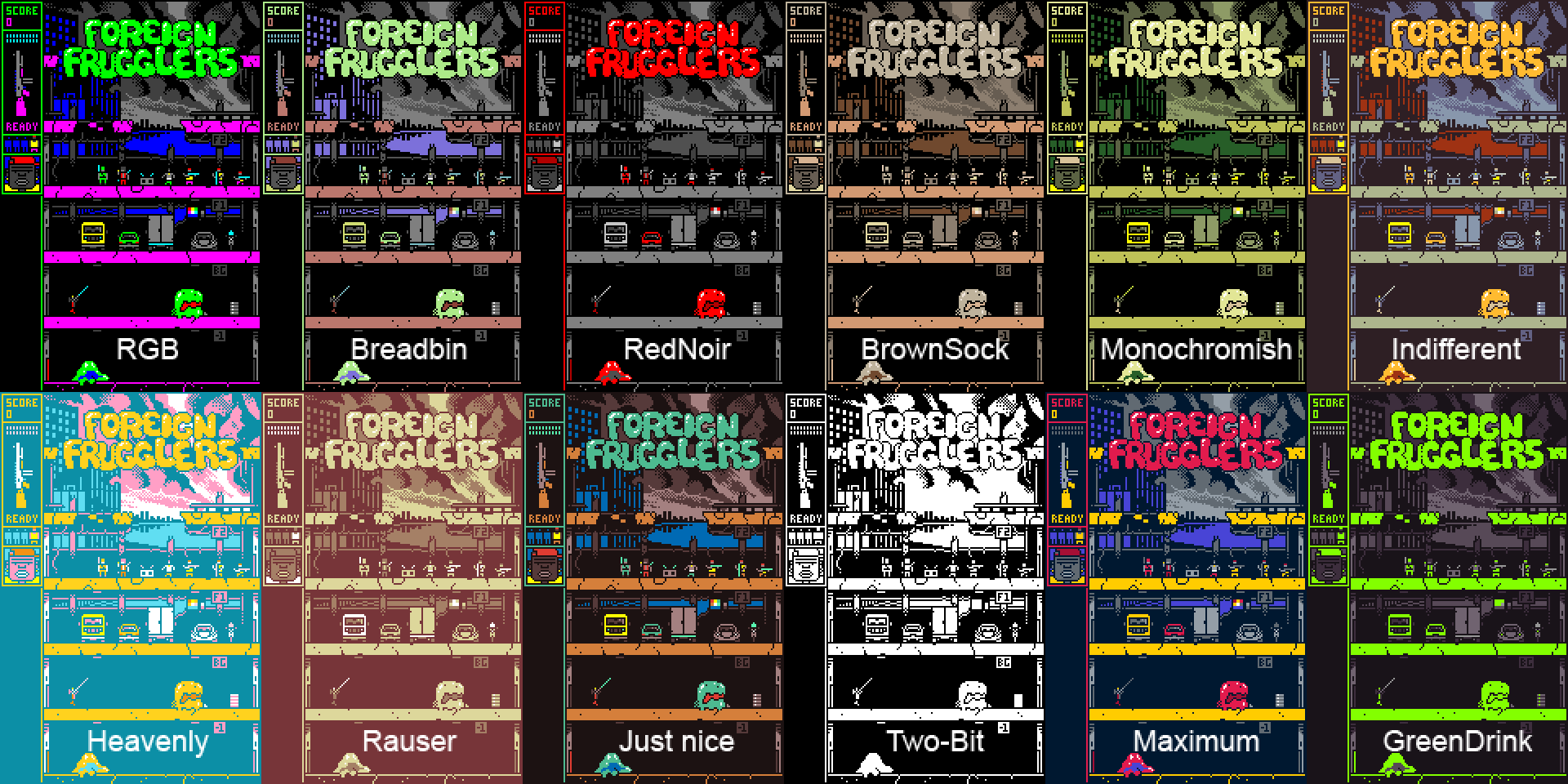 Foreign Frugglers Endless Mode Palettes