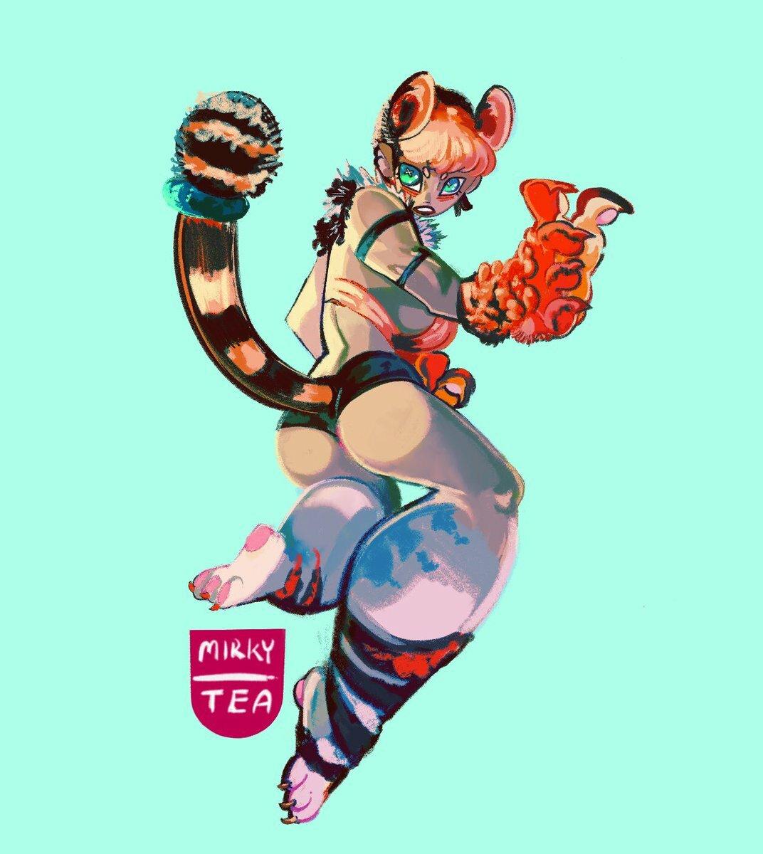 Tiger girl pinup