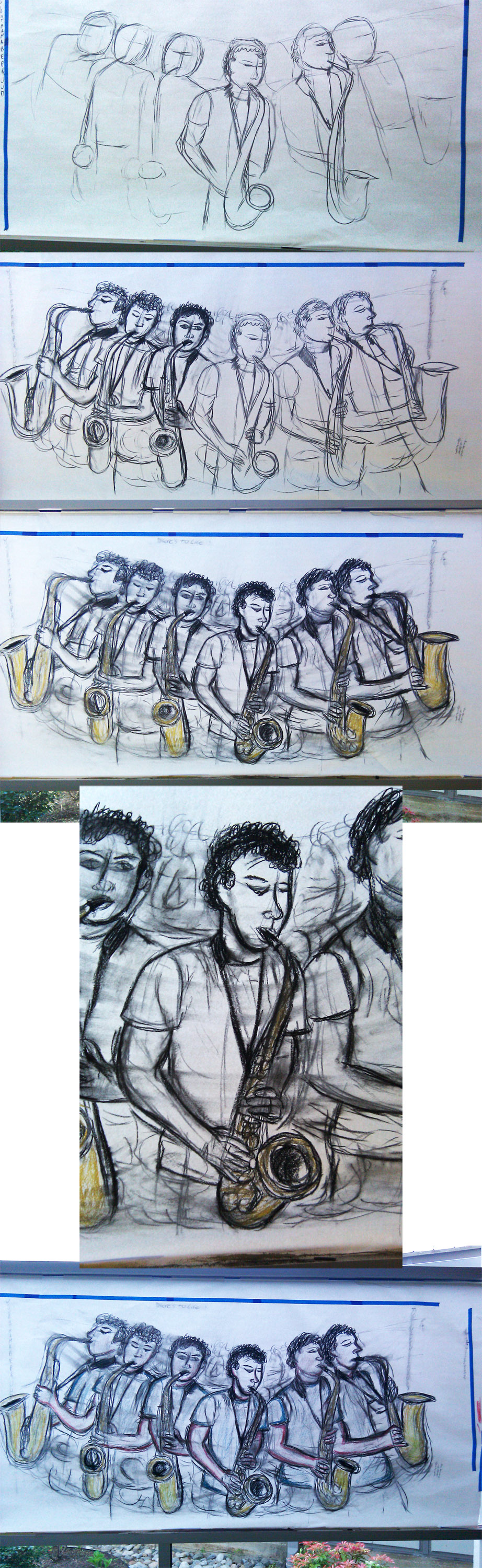 John on the Sax step by step