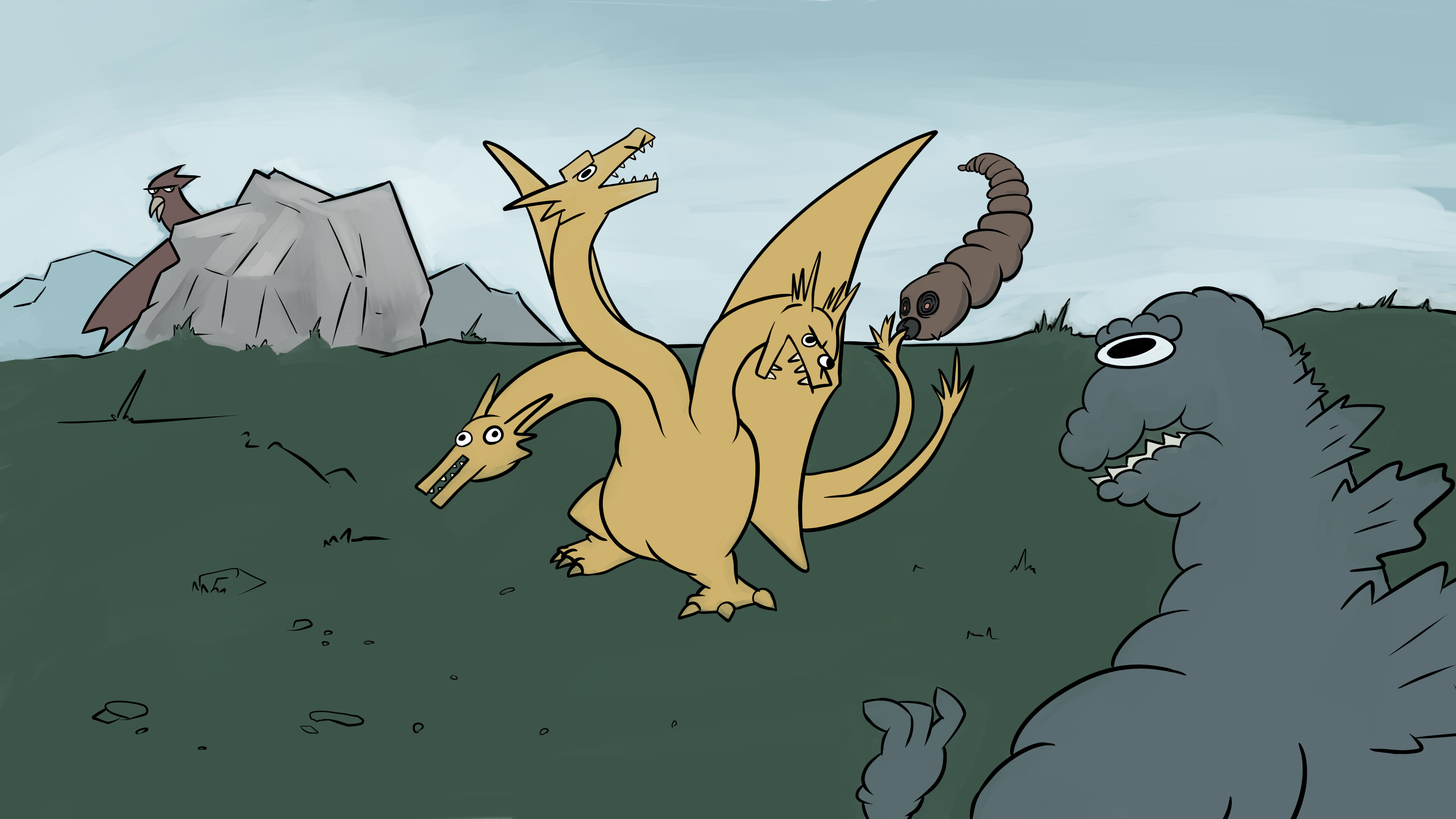 I watched Ghidorah, The Three Headed Monster...