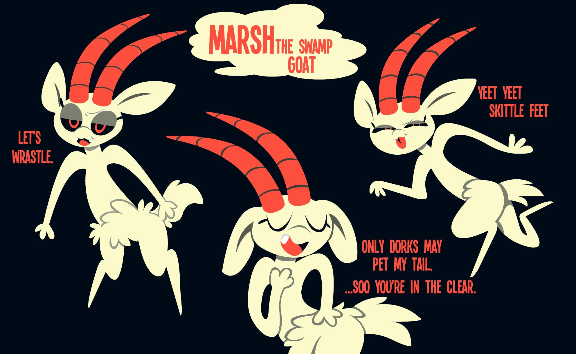 Marsh the swamp goat