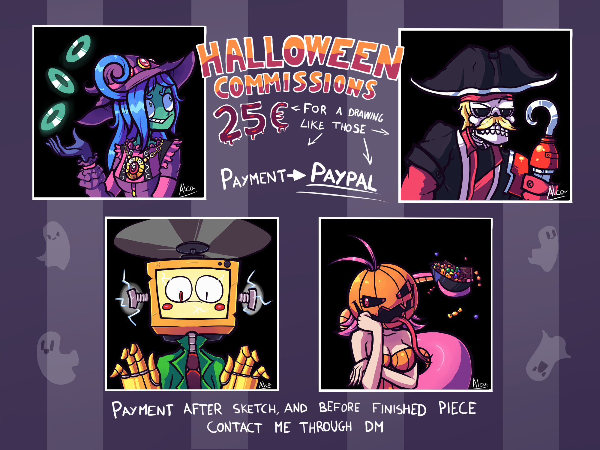Halloween Commission Sheet
