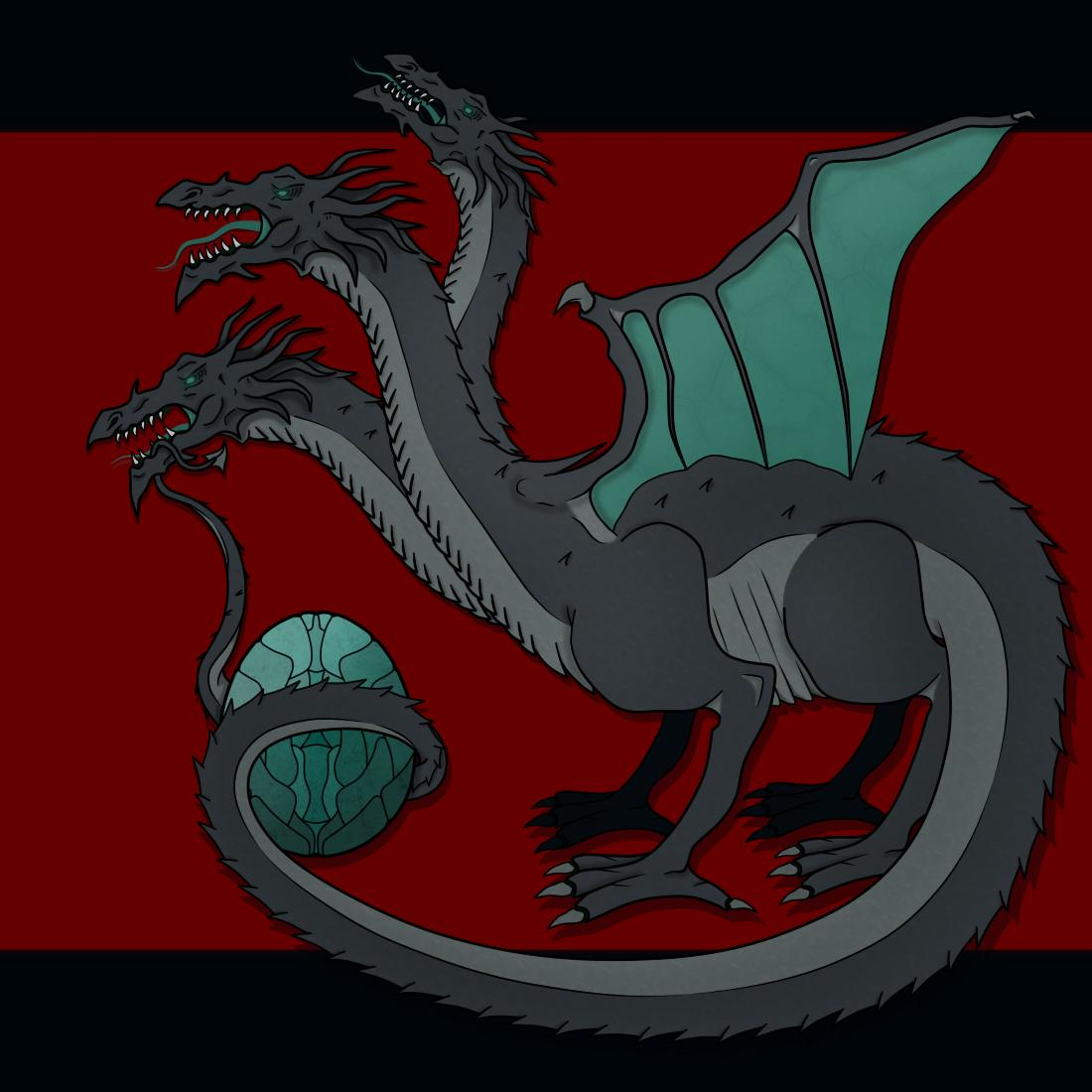 Obsidian Hydra - (Logo Commission)