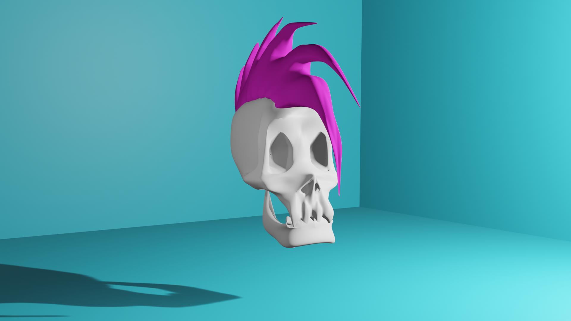 skull feat. mohawk