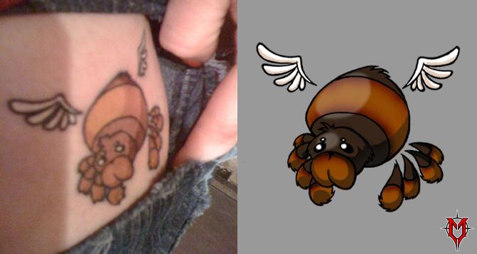Tattoo - Angel Spider