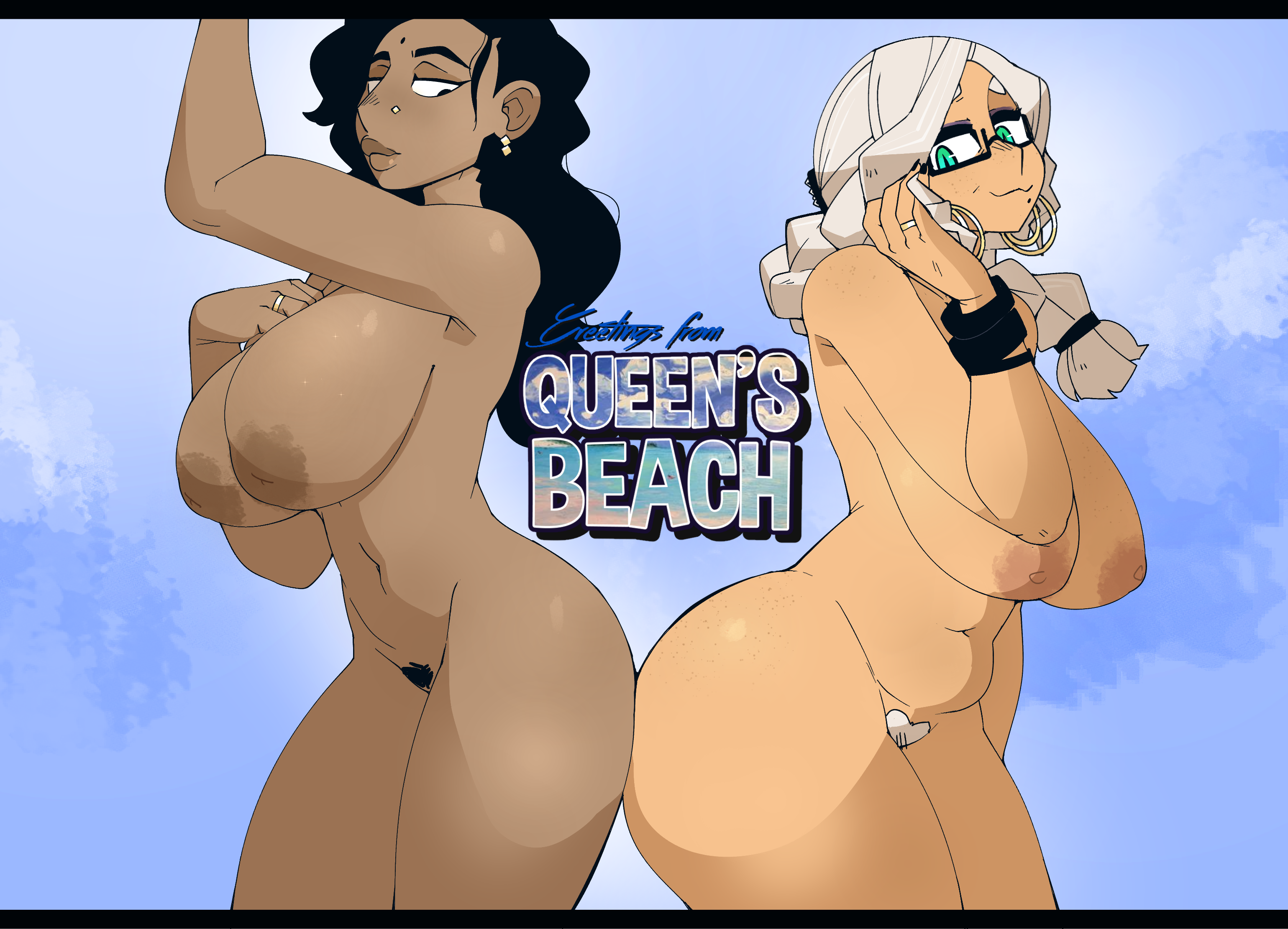 Greetings from Queen's Beach! NUDE Ver.