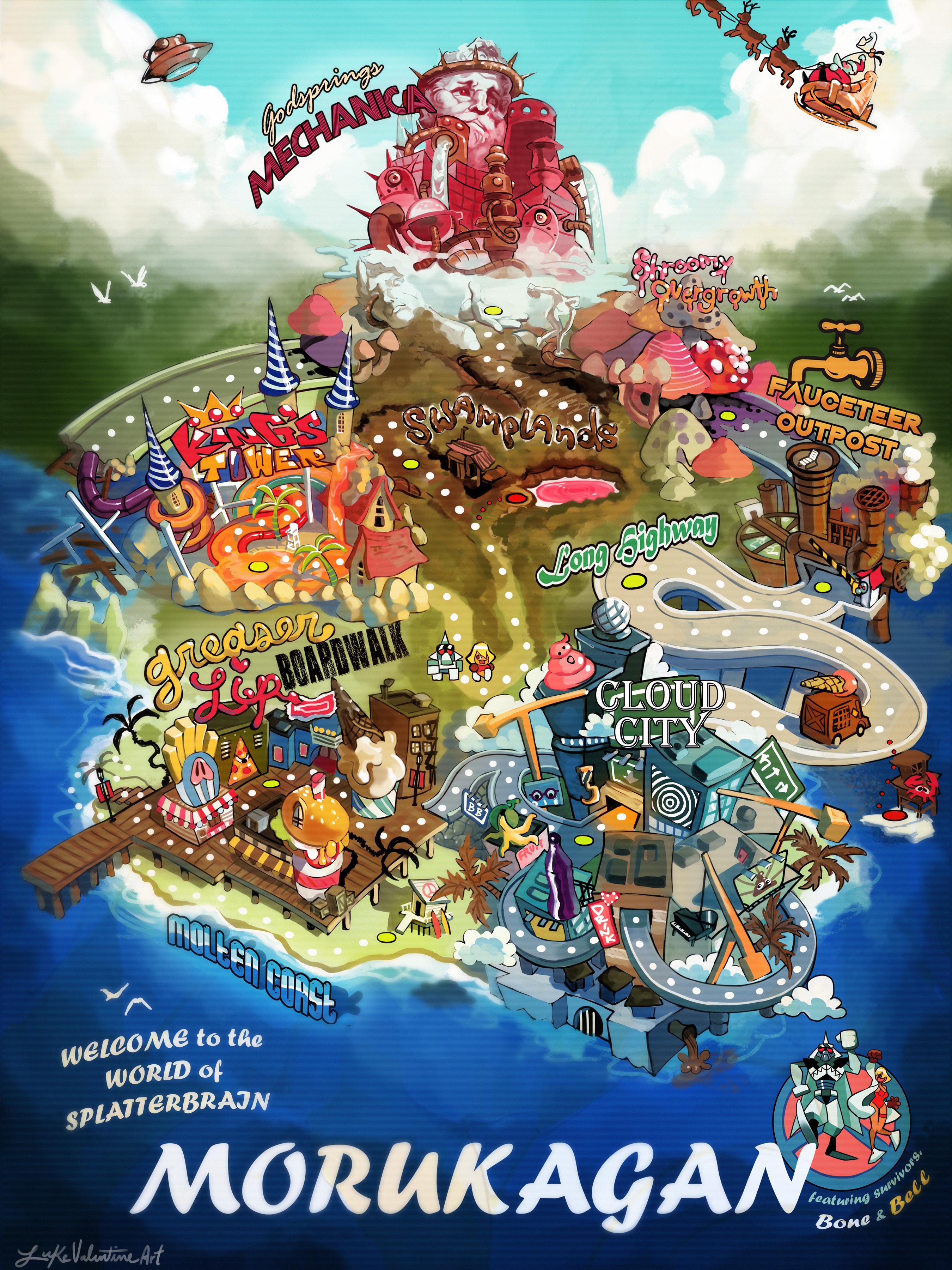 Splatterbrain World Map