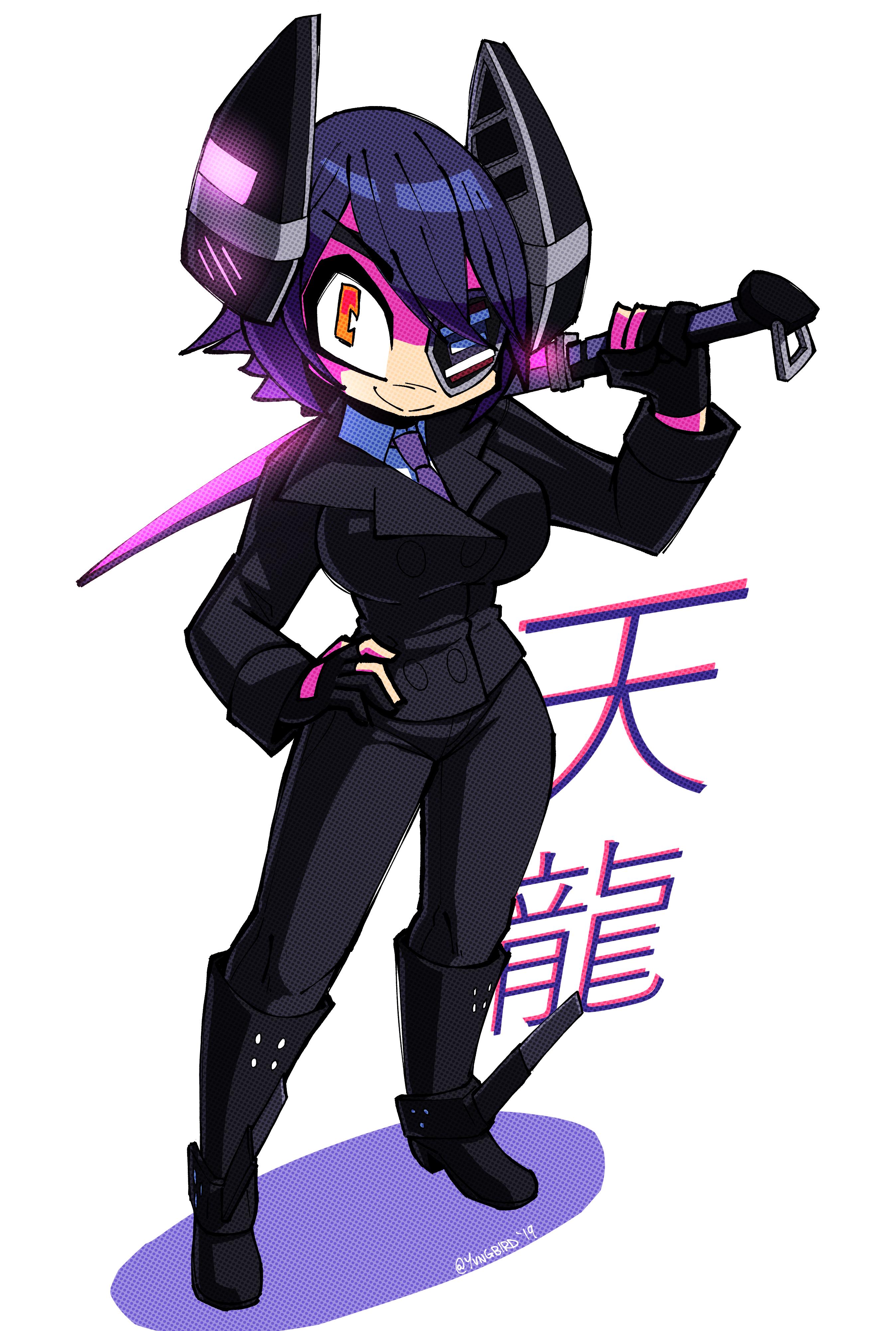 tenryuu (but in a suit)