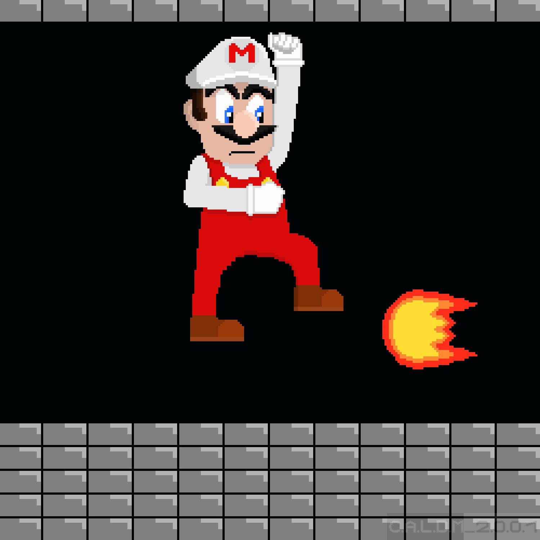 Pixel Art Fire Mario Super Mario Bros By Caldm2001 On